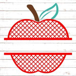 Lattice Apple Split Monogram