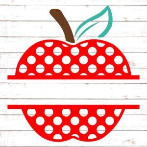Polka Dot Apple Split Monogram #2