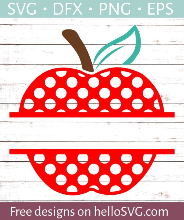 Polka Dot Apple Split Monogram #2