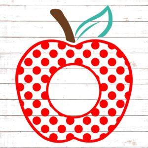 Polka Dot apple Monogram