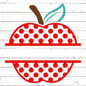 Polka Dot Apple Split Monogram