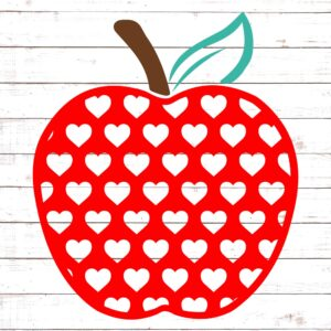 Apple with Red Hearts #2