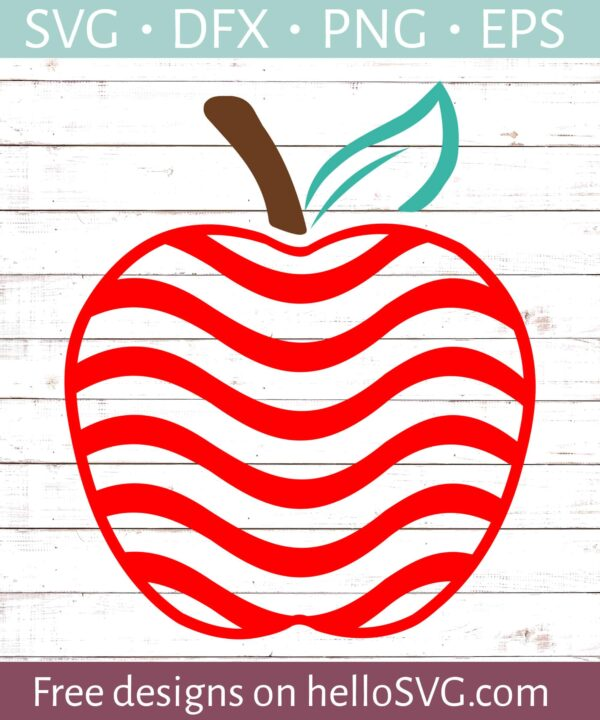 Apple with Red Swirls