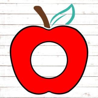 Solid Red Apple Monogram