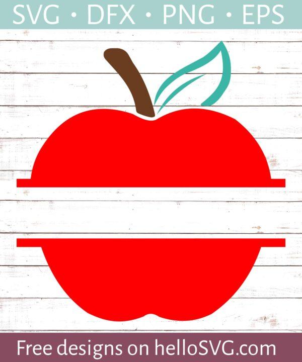 Solid Red Apple Split Monogram