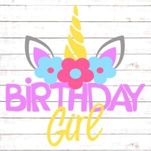 Unicorn Birthday Girl