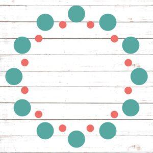 Circle Monogram Frame #12