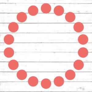 Circle Monogram Frame #15