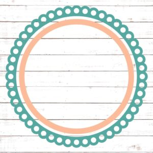 Circle Monogram Frame #16
