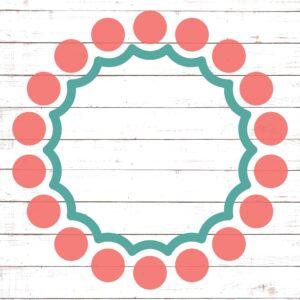 Circle Monogram Frame #17