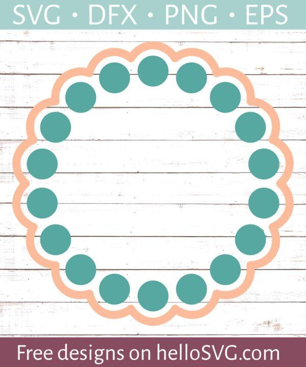 Circle Monogram Frame #18