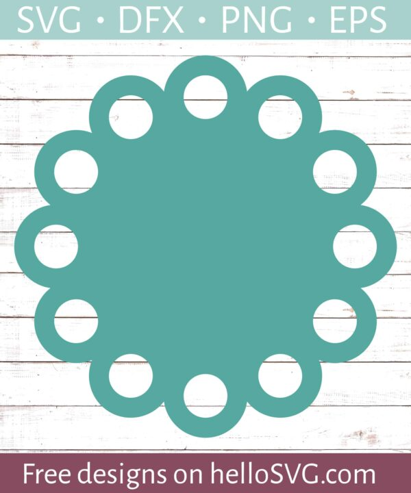 Circle Monogram Frame #19