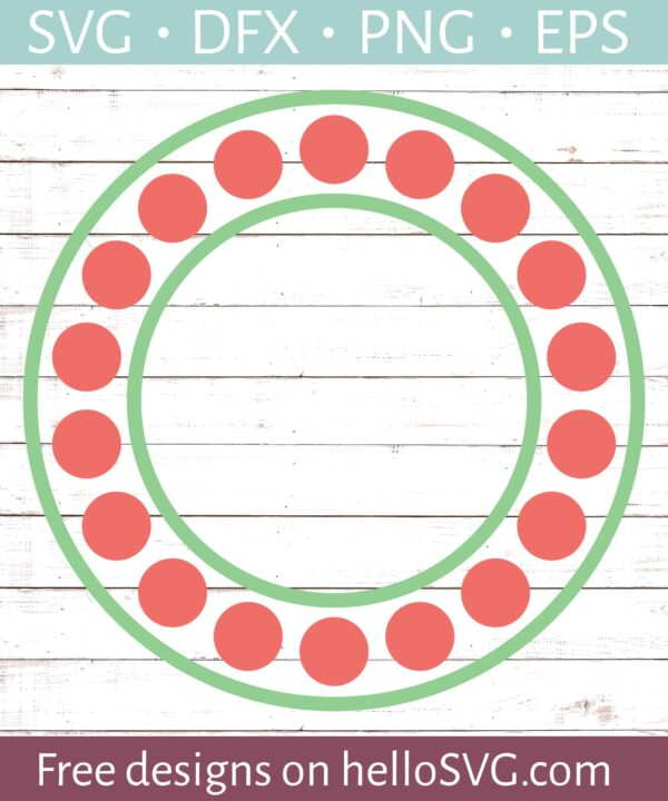 Circle Monogram Frame #1