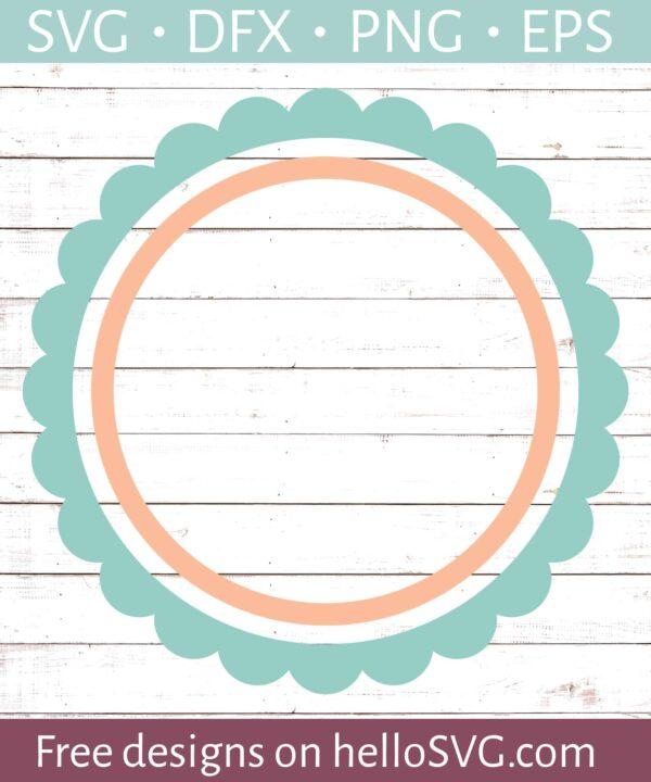 Circle Monogram Frame #20