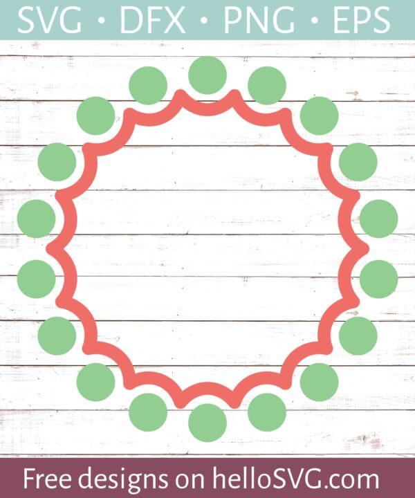 Circle Monogram Frame #23