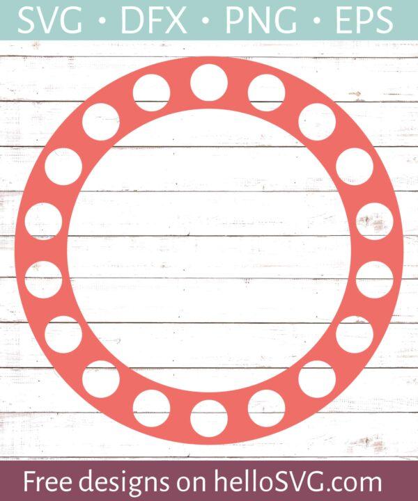 Circle Monogram Frame #24