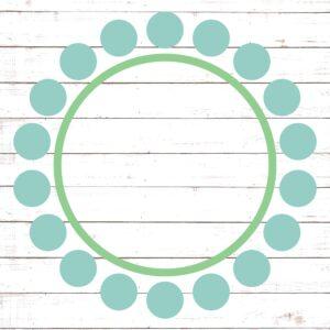 Circle Monogram Frame #2