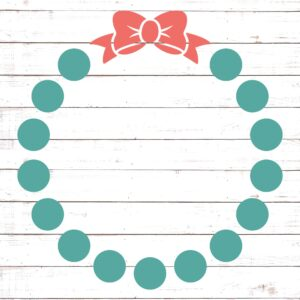 Circle Monogram Frame #3 with Bow