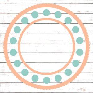 Circle Monogram Frame #8