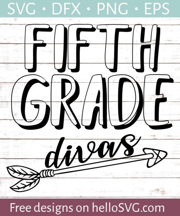 Fifth Grade Divas - Teacher Shirt Design