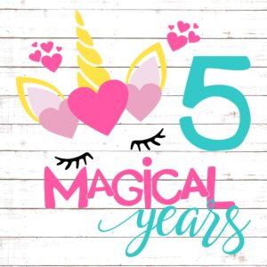 Five Magical Years Birthday