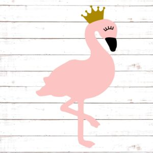 Princess Flamingo with Crown
