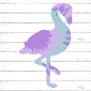 Tie Die Flamingo