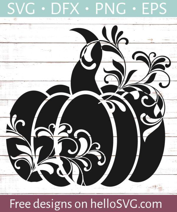 Floral Pumpkin Silhouette