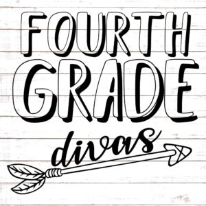 Fourth Grade Divas - Teacher Shirt Design