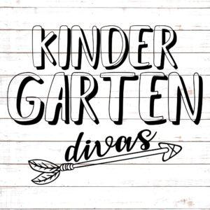 Kindergarten Divas - Teacher Shirt Design