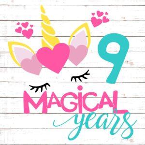 Nine Magical Years Birthday