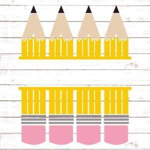 Pencils Monogram