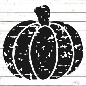Pumpkin Distressed Silhouette