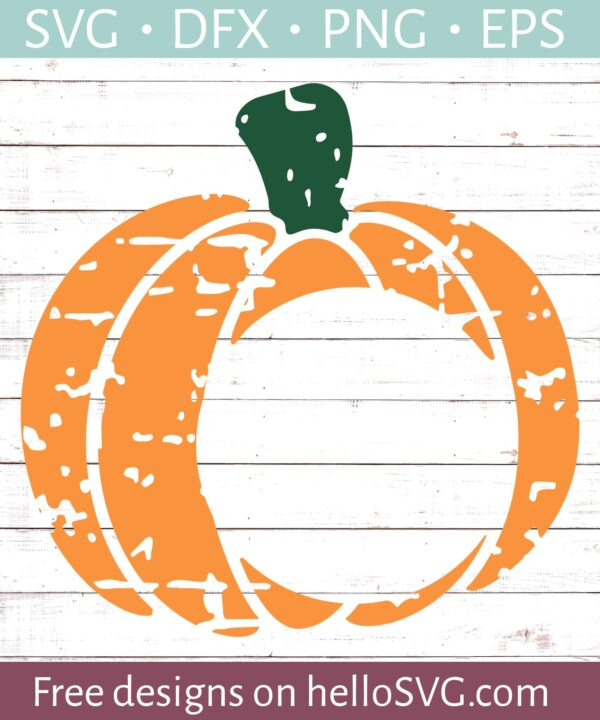 Pumpkin Monogram Distressed #1