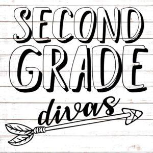 Second Grade Divas - Teacher Shirt Design