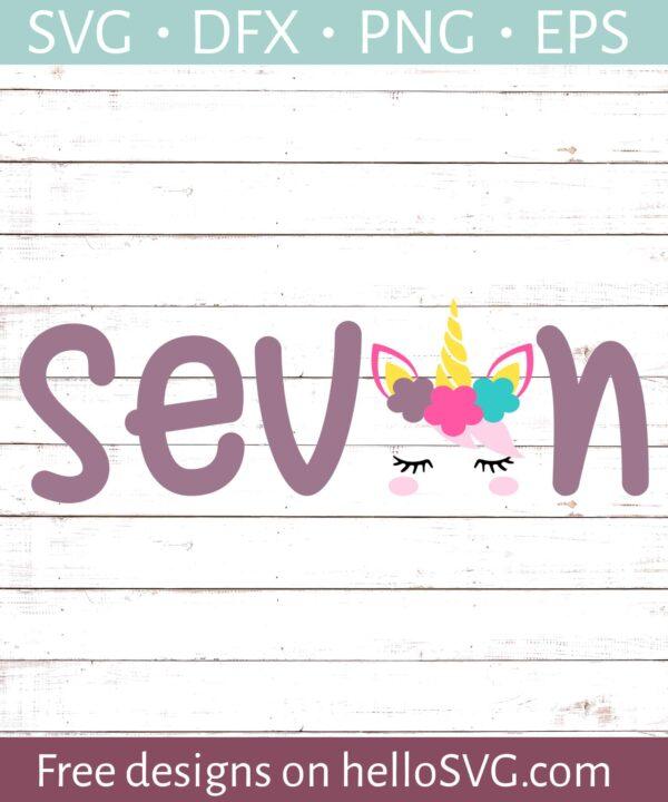 Seventh Birthday with Unicorn #1