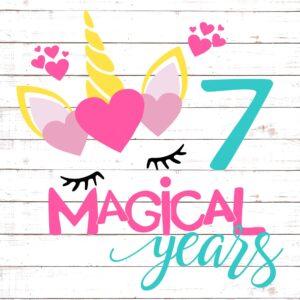 Seven Magical Years Birthday