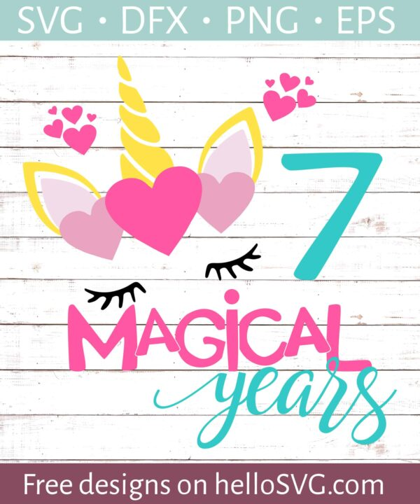 Seven Magical Years Birthday