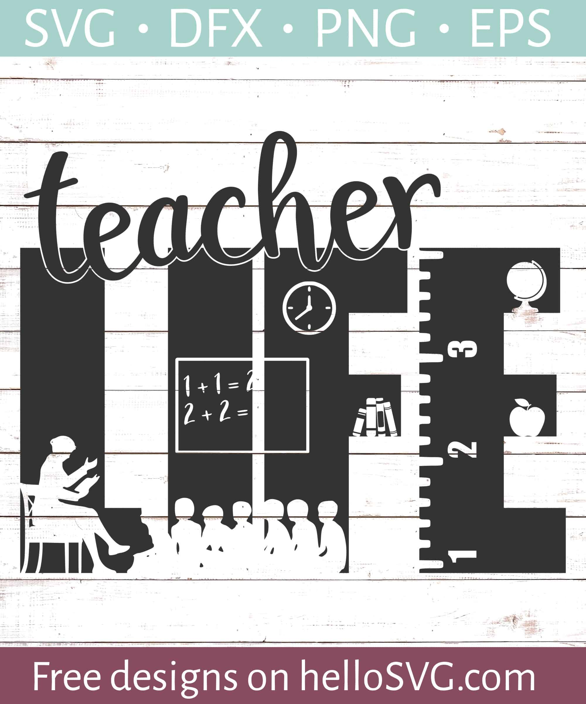 School svg Teach SVG Teacher gift Classroom Teacher appreciation Teacher SVG Cricut file svg png eps dxf Teacher life
