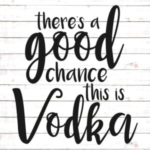 There's A Good Chance This is Vodka