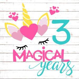 Three Magical Years Birthday