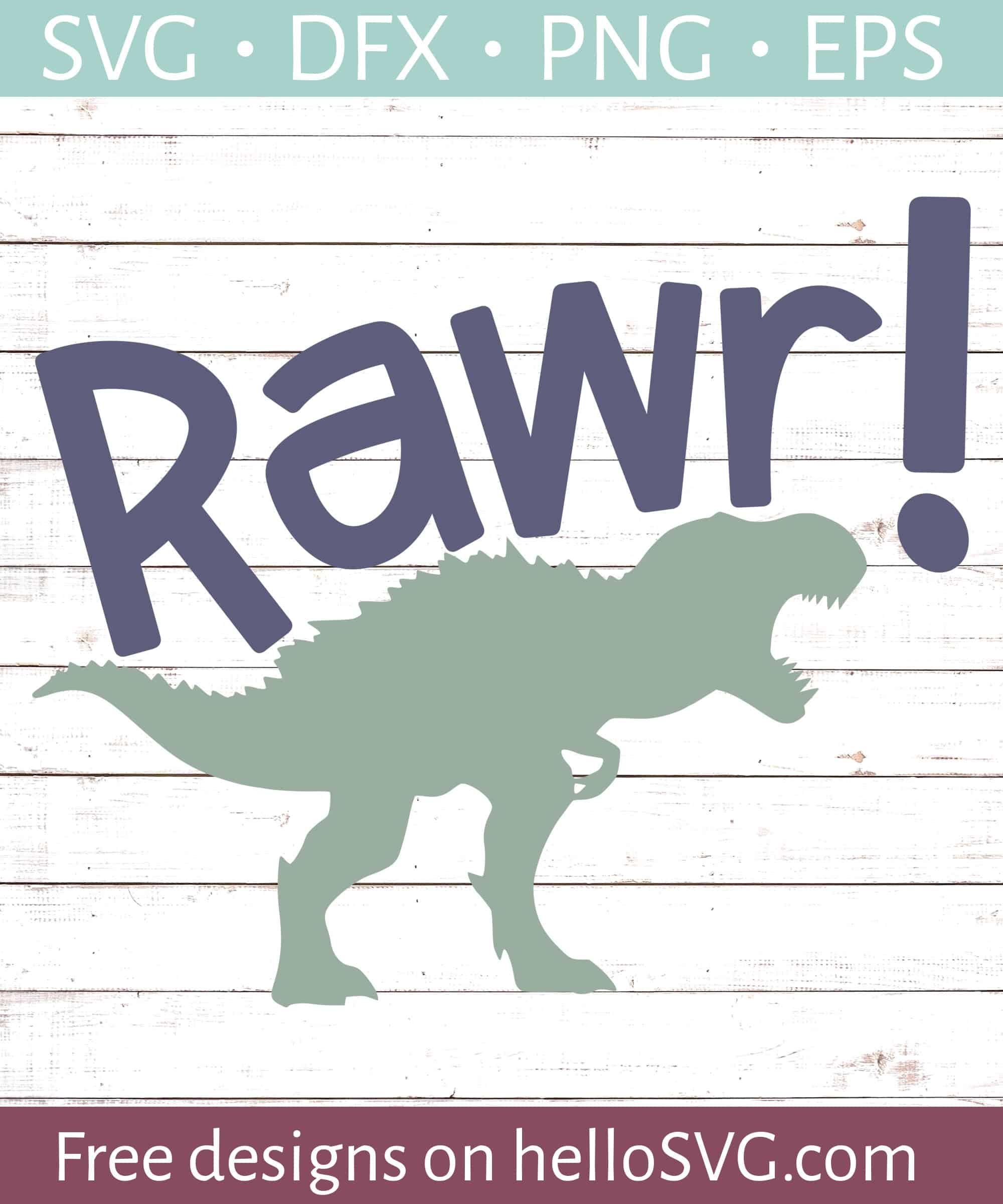 Rawr Trex Dinosaur Svg Free Svg Files Hellosvg Com