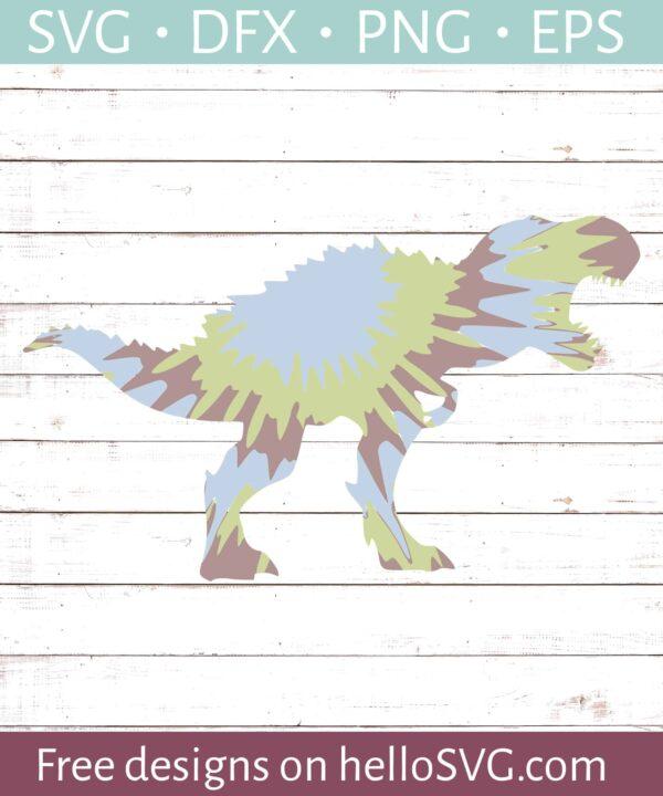 Tye Die Trex Dinosaur