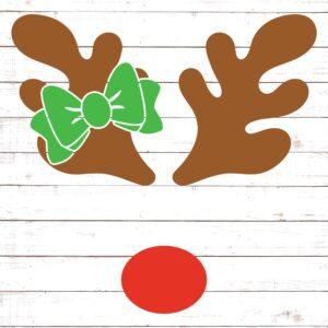 Reindeer Monogram with Bow