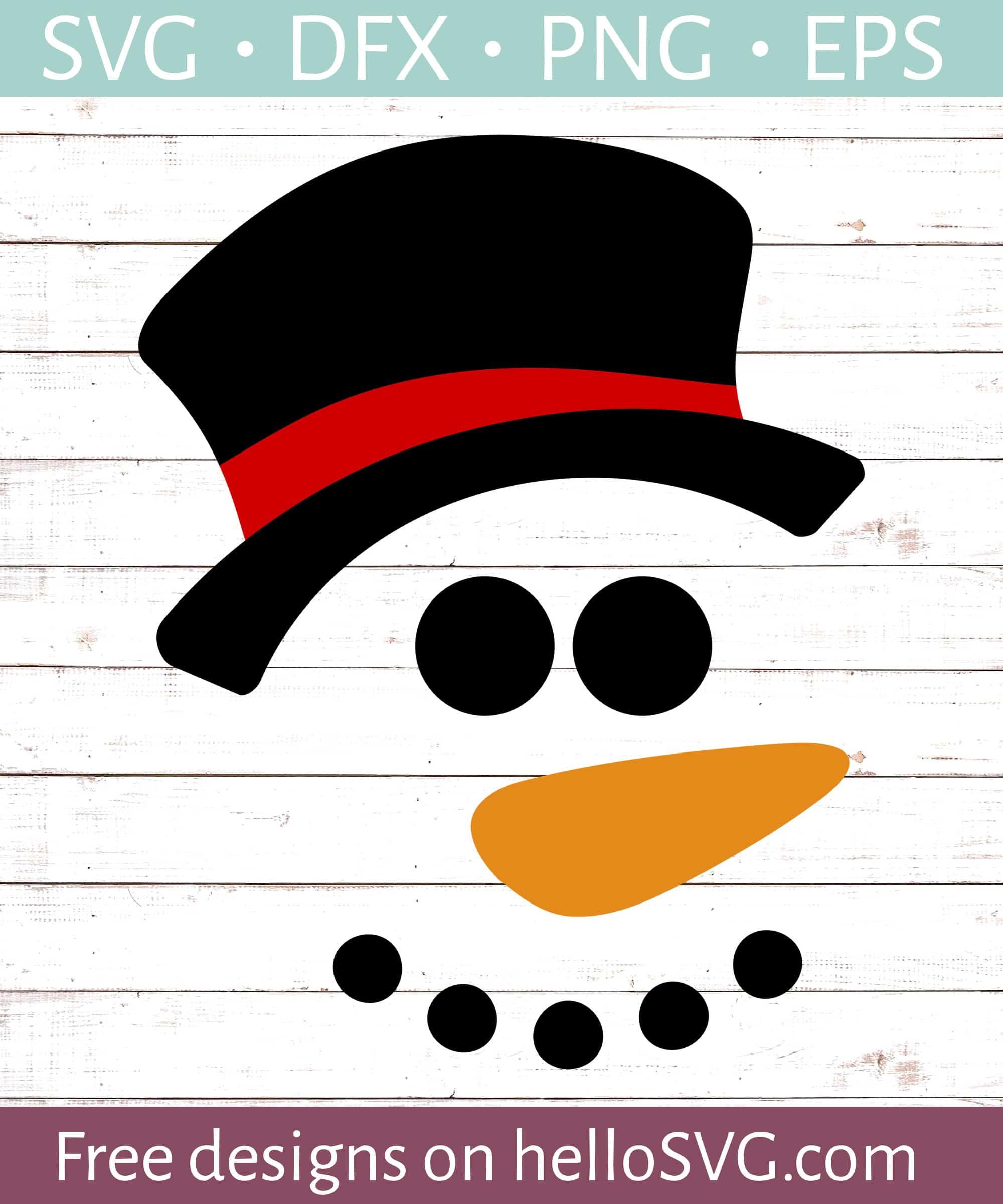 Snowman Face Boy Svg Free Svg Files Hellosvg Com