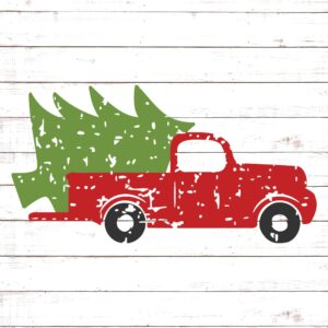 Vintage Truck with Christmas Tree
