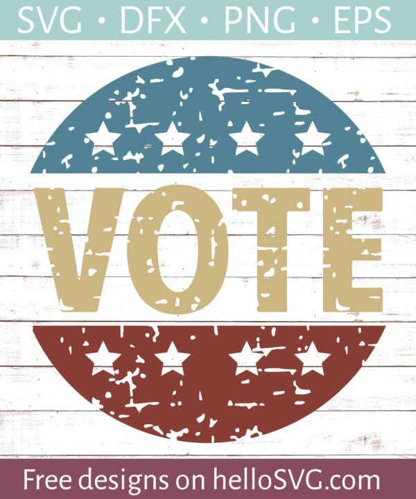 Vote Badge - Distressed