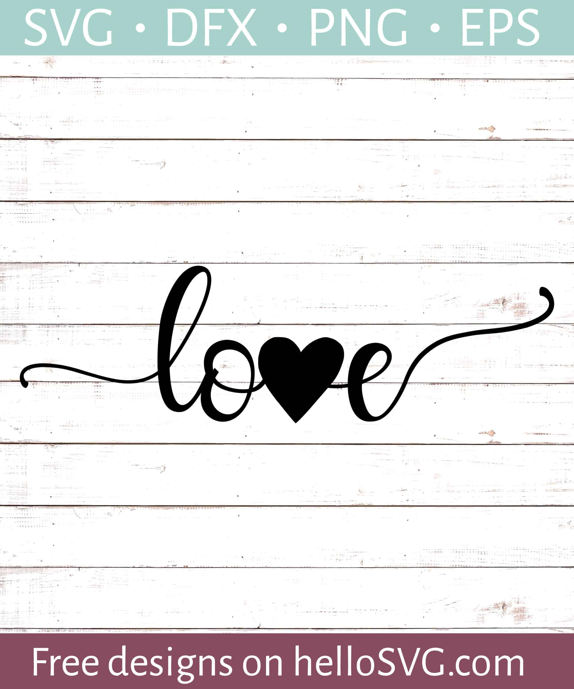 Love With Heart Svg Free Svg Files Hellosvg Com