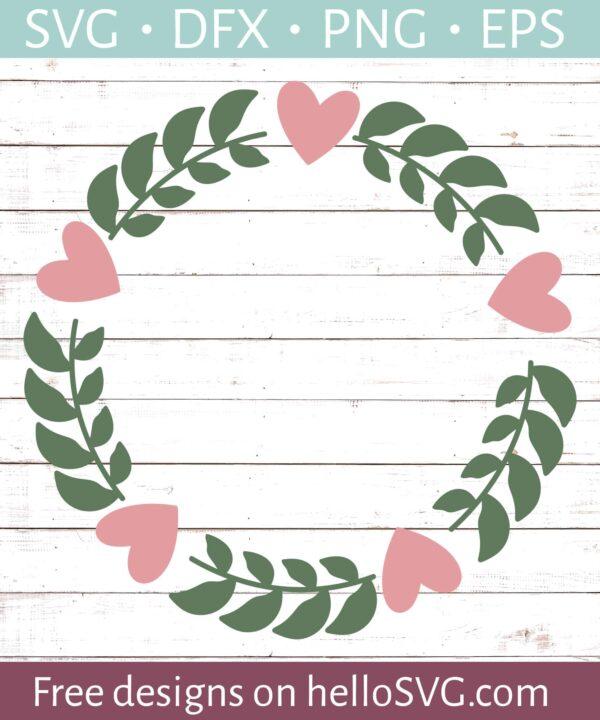 Floral Wreathe Monogram Frame #1