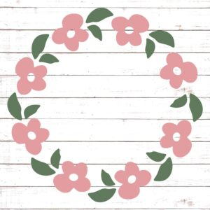 Floral Wreathe Monogram Frame #2
